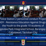 Police Station 2 personnel conduct symposium regarding Project READY – Resistance Education Against Drugs for the Youth
